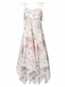 Zimmermann floral print flutter dress - White