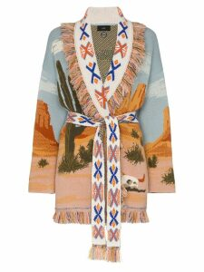 Alanui Canyon Sunrise cashmere belted cardigan - 9988