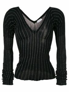 Sonia Rykiel striped fine knit sweater - Black