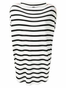 Mm6 Maison Margiela striped jumper - White