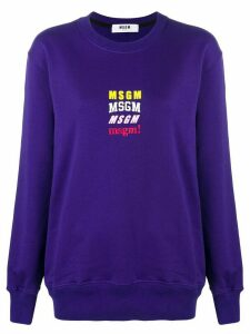 MSGM logo sweater - Purple