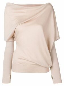 Tom Ford asymmetric knitted blouse - Brown