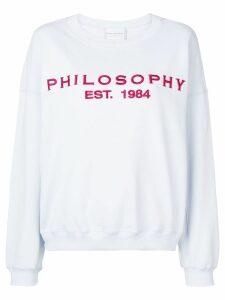 Philosophy Di Lorenzo Serafini embroidered logo sweatshirt - Blue