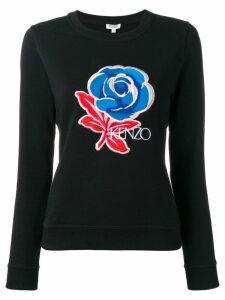 Kenzo Rose embroidered sweatshirt - Black