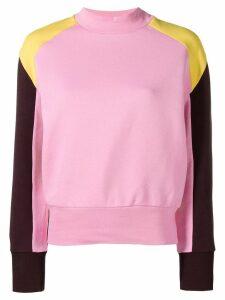 MSGM contrast panels sweatshirt - Pink