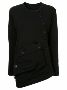 Y's buttoned oversize T-shirt - Black