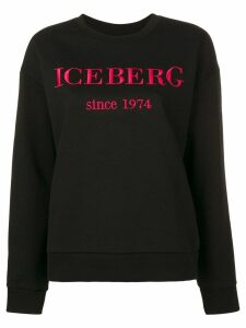 Iceberg embroidered logo sweatshirt - Black