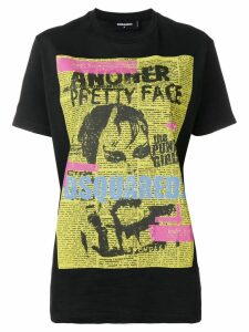 Dsquared2 punk poster T-shirt - Black