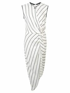 Yigal Azrouel knotted front tunic top - White