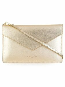 Lancaster high-shine clutch bag - Metallic