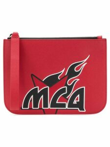 McQ Alexander McQueen printed clutch bag - Red