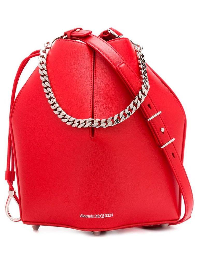 Alexander McQueen The Bucket Bag - Red