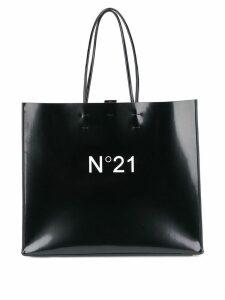 Nº21 large logo-print shopper - Black