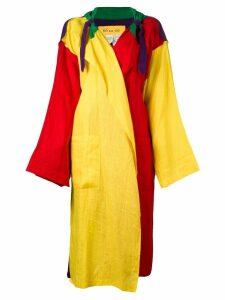 Jc De Castelbajac Pre-Owned oversized light coat - Multicolour