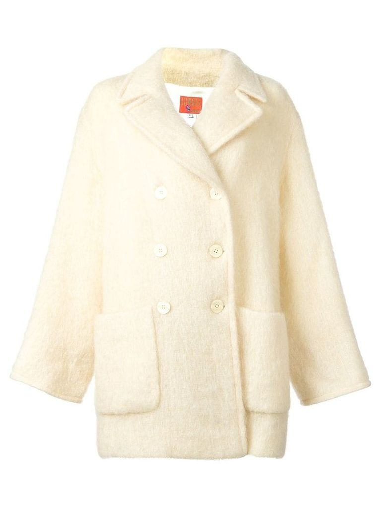 Kenzo Vintage double breasted coat - Neutrals