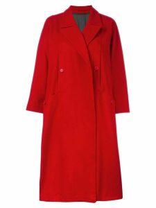 YOHJI YAMAMOTO PRE-OWNED Y's oversized coat - Red