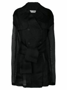 Dolce & Gabbana Pre-Owned 1990's sheer double breasted coat - Black