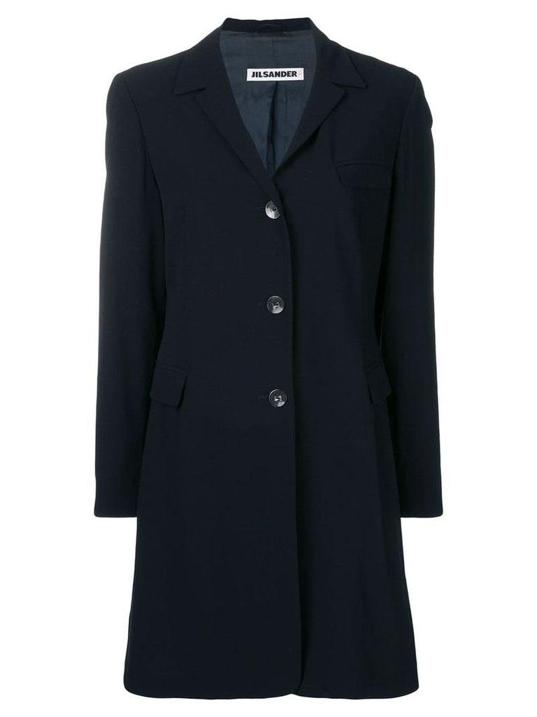 Jil Sander Vintage 1990's elongated coat - Blue