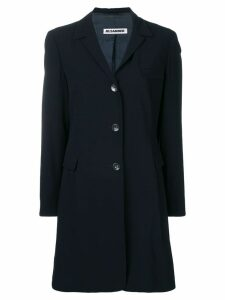 Jil Sander Pre-Owned 1990's elongated coat - Blue