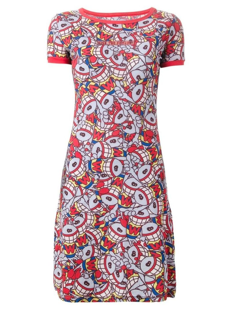 Walter Van Beirendonck Vintage 'Puk Puk' T-shirt dress - Red
