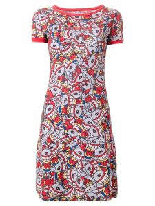 Walter Van Beirendonck Pre-Owned 'Puk Puk' T-shirt dress - Red