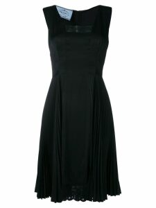 Prada Pre-Owned 2000's lace detail pleated dress - Black