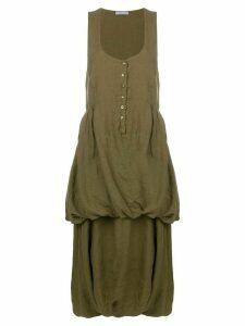 Prada Pre-Owned tiered sleeveless dress - Green