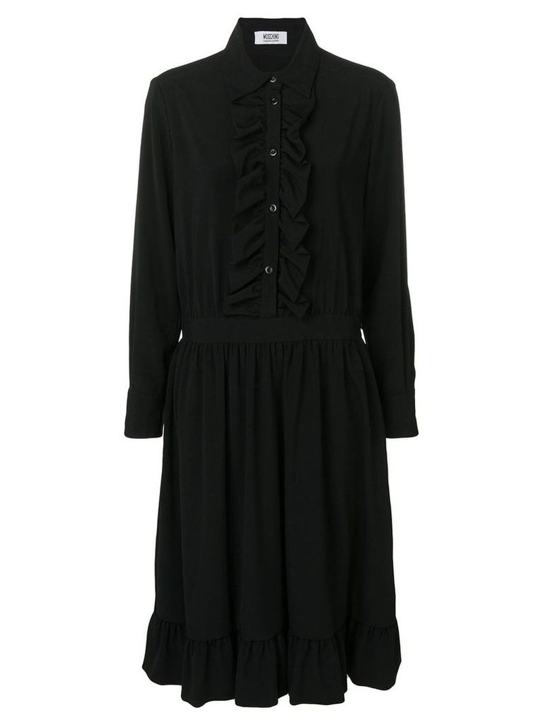 Moschino Vintage 2000's frilled shirt dress - Black