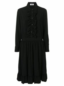 Moschino Pre-Owned 2000's frilled shirt dress - Black