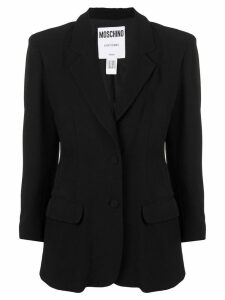 MOSCHINO PRE-OWNED playing card blazer - Black