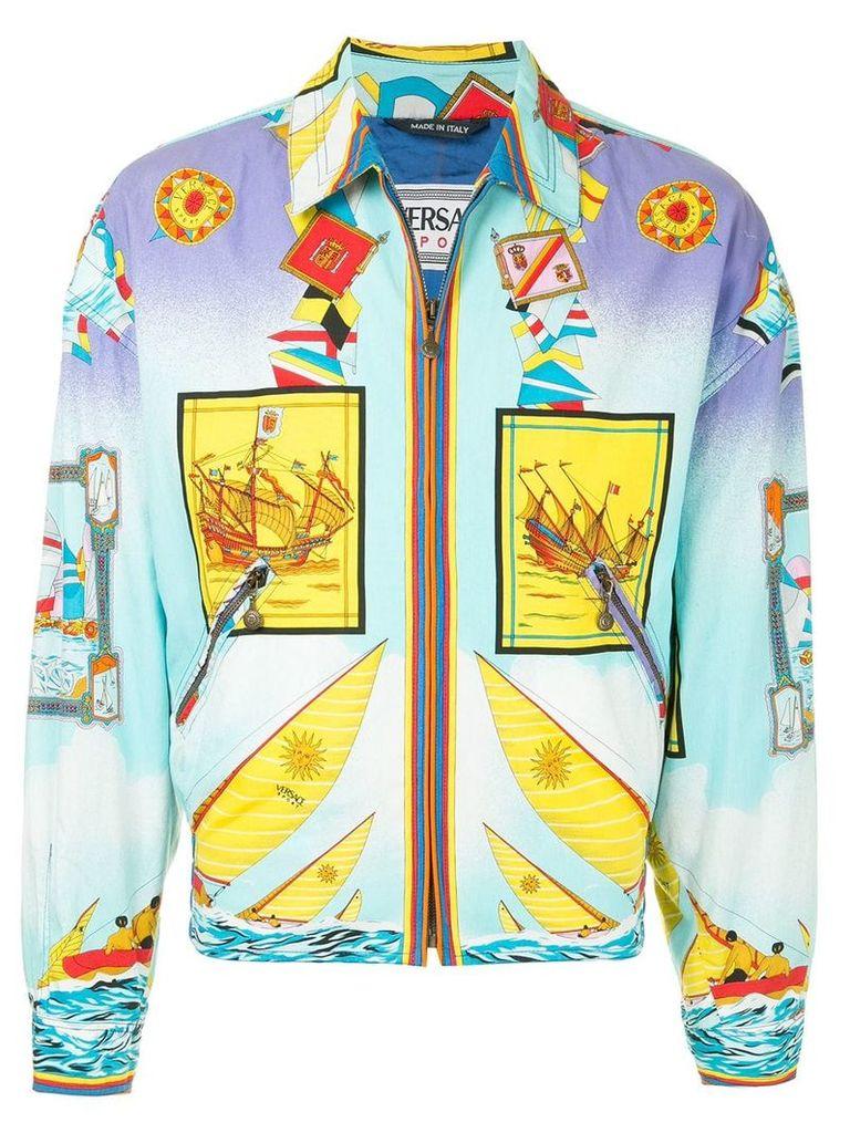 Versace Vintage printed zip-up jacket - Multicolour