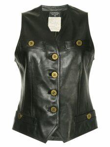 Chanel Pre-Owned sleeveless vest - Black