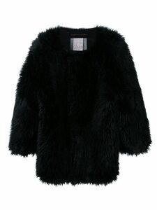 Comme Des Garçons Pre-Owned oversized faux fur jacket - Black