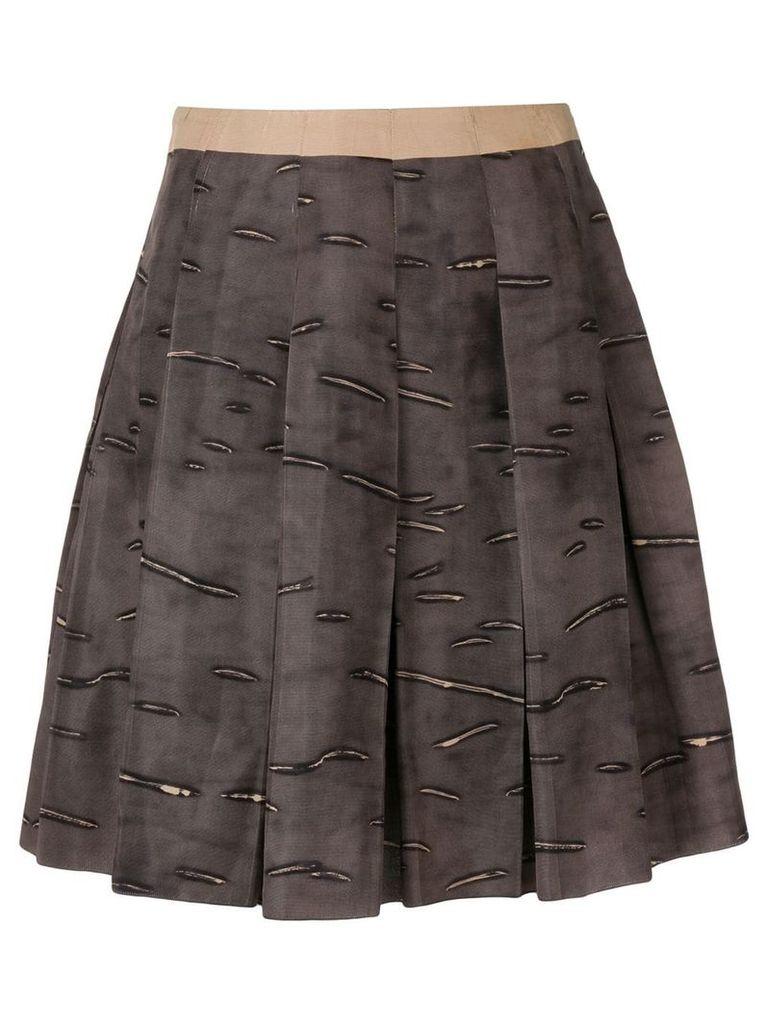 Prada Pre-Owned 2000's pleated short skirt - Brown