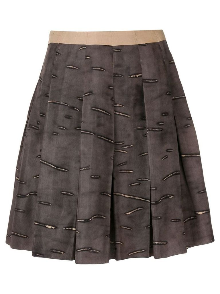 Prada Vintage 2000's pleated short skirt - Brown