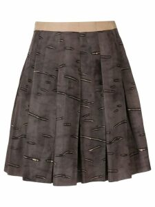 Prada Pre-Owned 2000's pleated short skirt - Brown