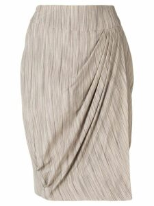 Giorgio Armani Pre-Owned pleat detail skirt - NEUTRALS