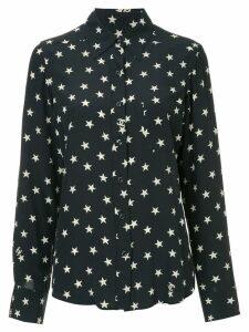 Chanel Pre-Owned star-print longsleeve top - Blue