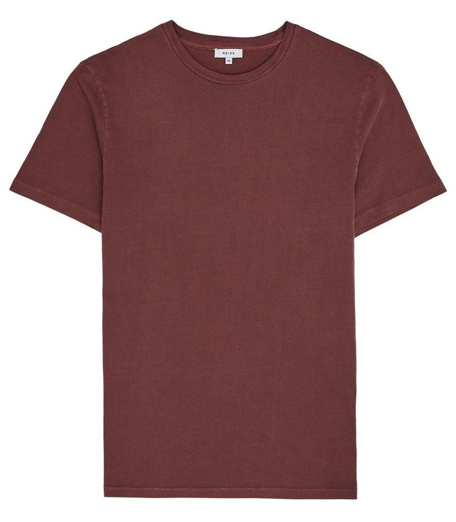Reiss Heath - Garment Dyed T-shirt in Bordeaux, Mens, Size XXL