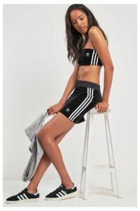Womens adidas Originals 3 Stripe Skirt -  Black