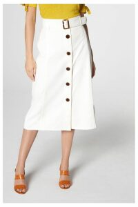 Womens L.K.Bennett Oda Skirt -  Cream