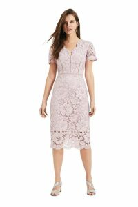 Womens Phase Eight Pink Trinity Corded Lace Dress -  Pink