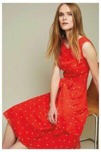 Womens Phase Eight Vermillion Fernanda Spot Dress -  Orange