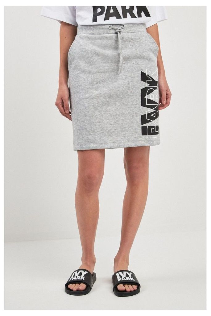 Womens Ivy Park Grey Logo Skirt -  Grey