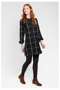 Womens FatFace Black Rachel Check Dress -  Black
