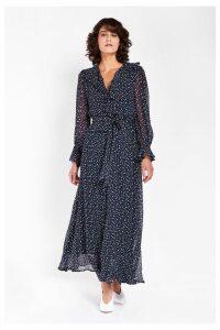 Womens Ghost London Blue Printed Su Dress -  Blue