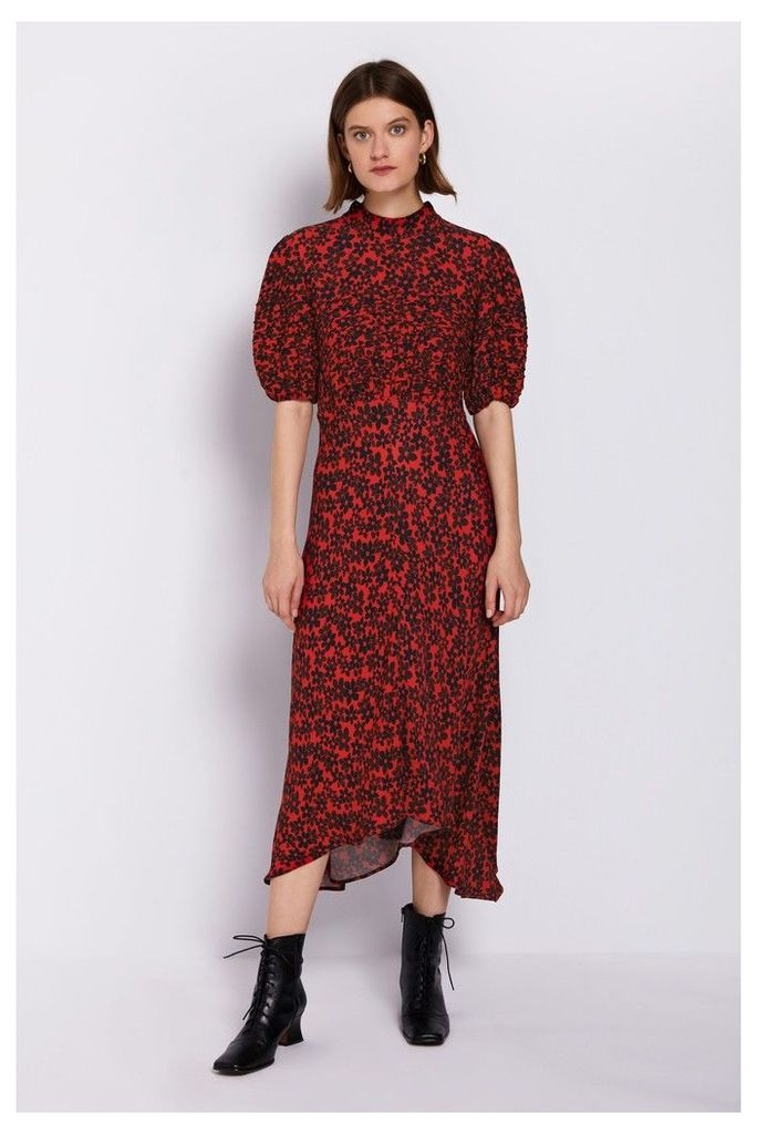 Womens Ghost London Red Printed Jenna Dress -  Red