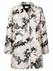 Red Valentino floral jacquard coat - Neutrals
