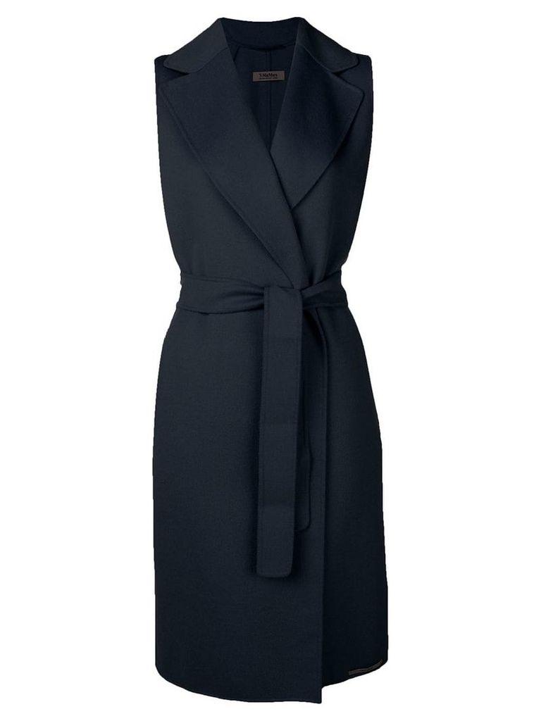 'S Max Mara sleeveless belted coat - Blue