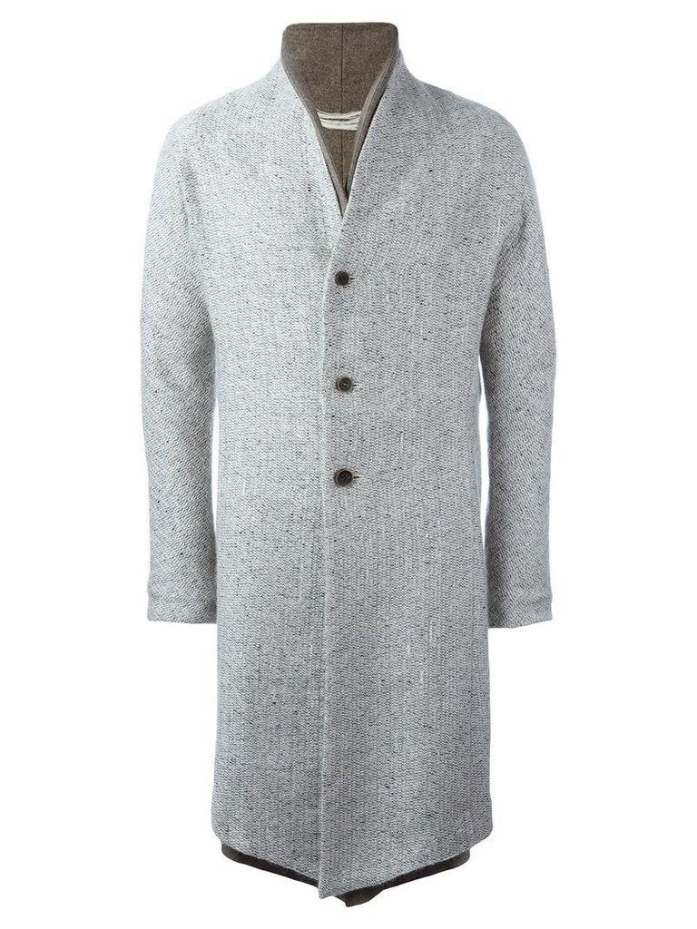 Individual Sentiments double lapel coat - Grey
